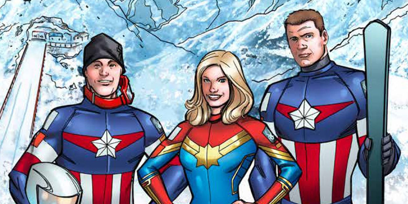 nbc promos us ski team captain marvel suit | screenrant