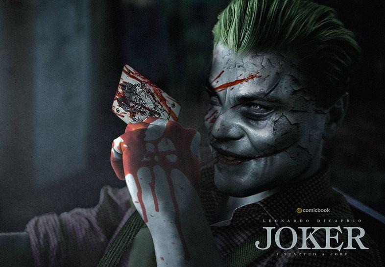 Joker (Origin Story) par Todd Philips produit par Scorcese (Elseworld) Leonardo-DiCaprio-Joker-Bosslogic-Art