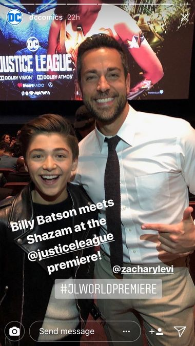 Shazam & Billy Batson Actors Meet in New Photo