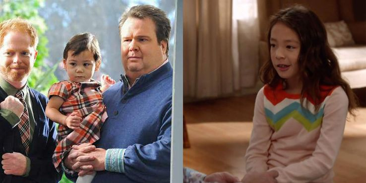 Tv stars who were surprisingly replaced in the middle of the show by she was originally played by the hiller twins and from season three and on it was aubrey anderson emmons solutioingenieria Choice Image