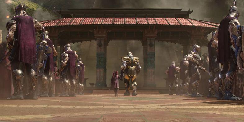 Гамора и Танос