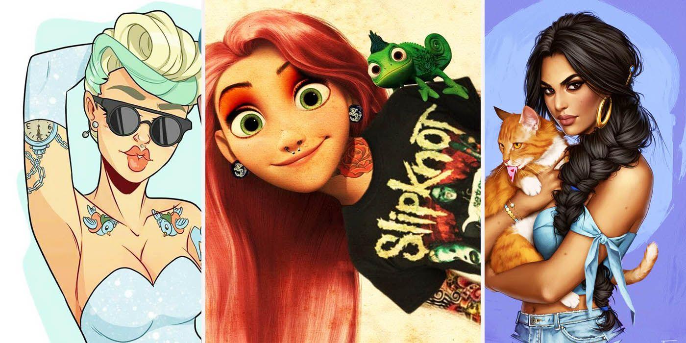 18 Crazy Modern Redesigns Of Disney Princesses Screenrant