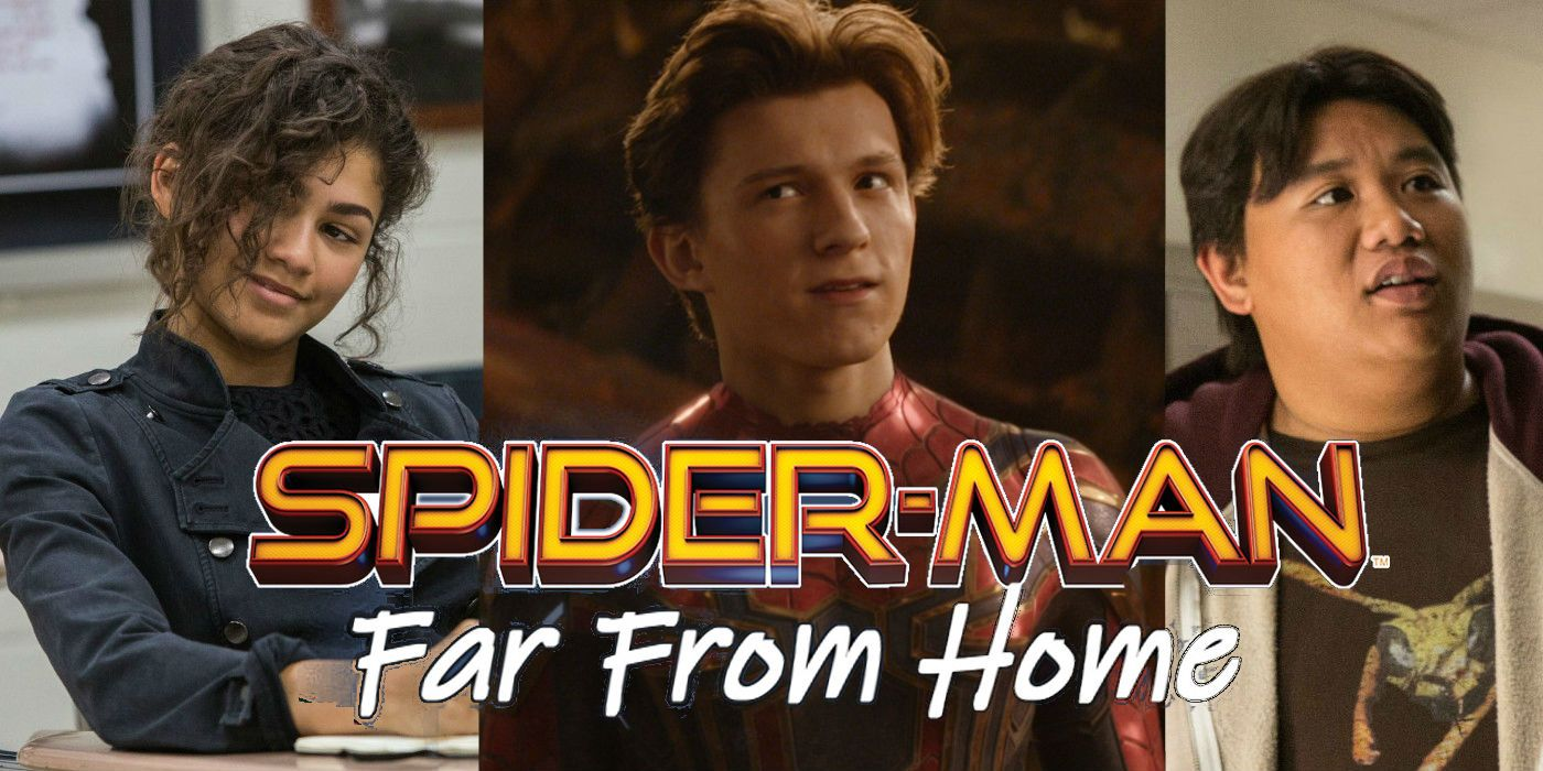 spider-man: far from home: peter's classmates return in set photo
