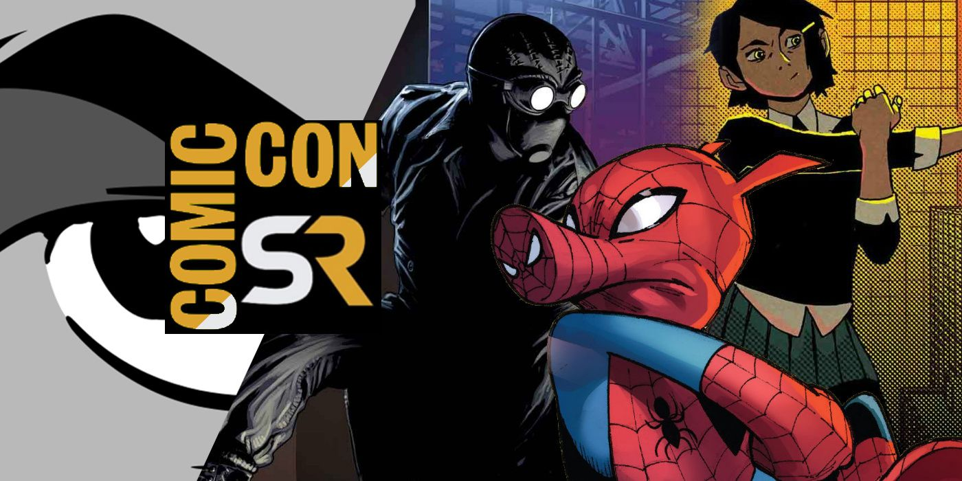 into the spider-verse: spider-ham & spidey noir confirmed at comic-con