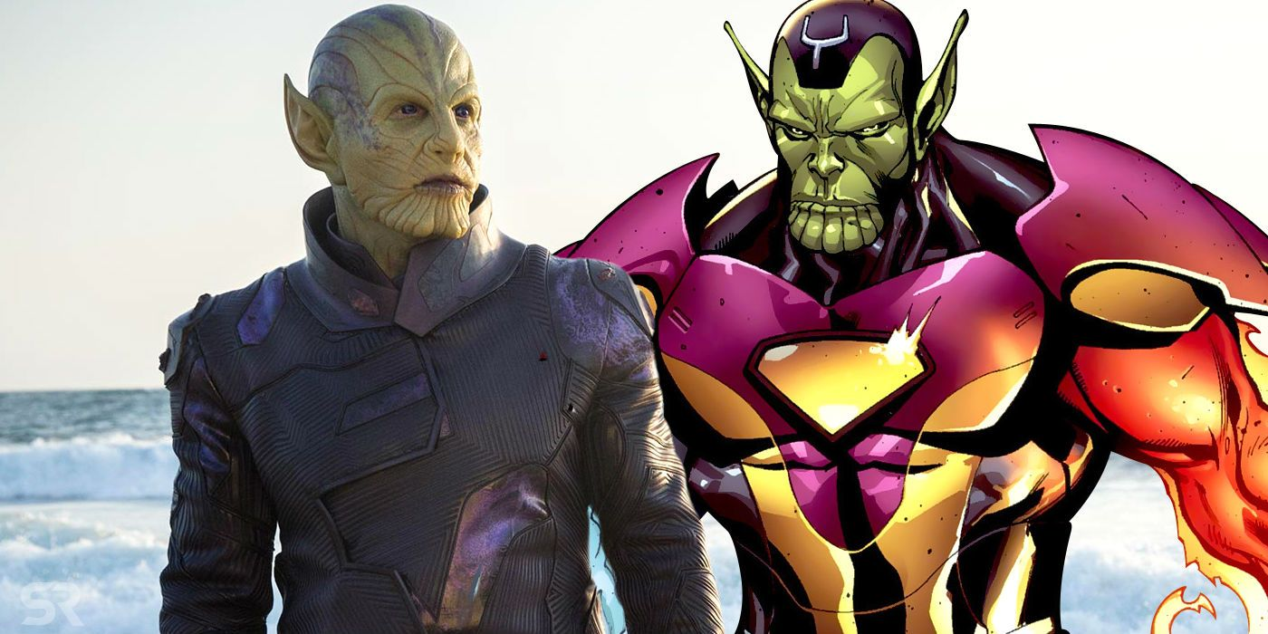 Captain Marvel Mcu Skrulls Have Changed From The Comics Concept Art