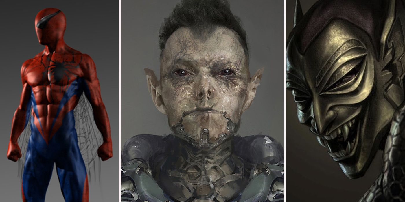30 unused spiderman concept art designs better than what