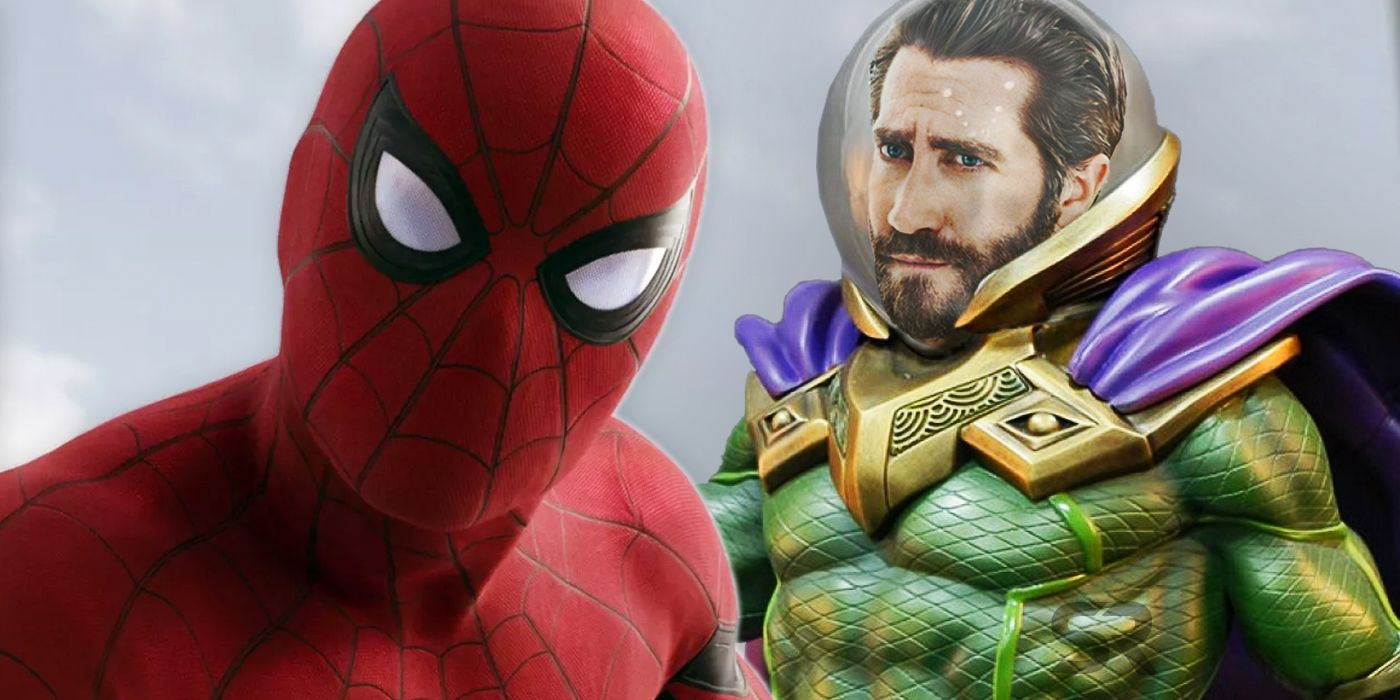 spider-man 2 set photos: why mysterio doesn't have his fishbowl helmet