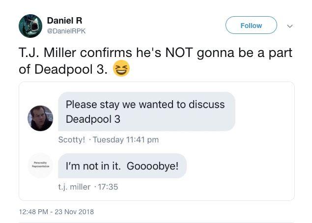 tj miller deadpool 3