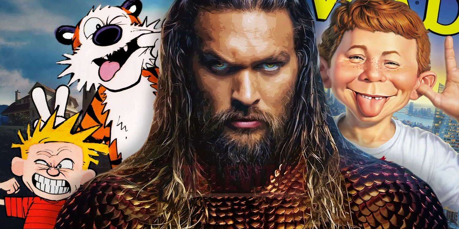Aquaman Takes Over MAD Magazine's Funny Pages
