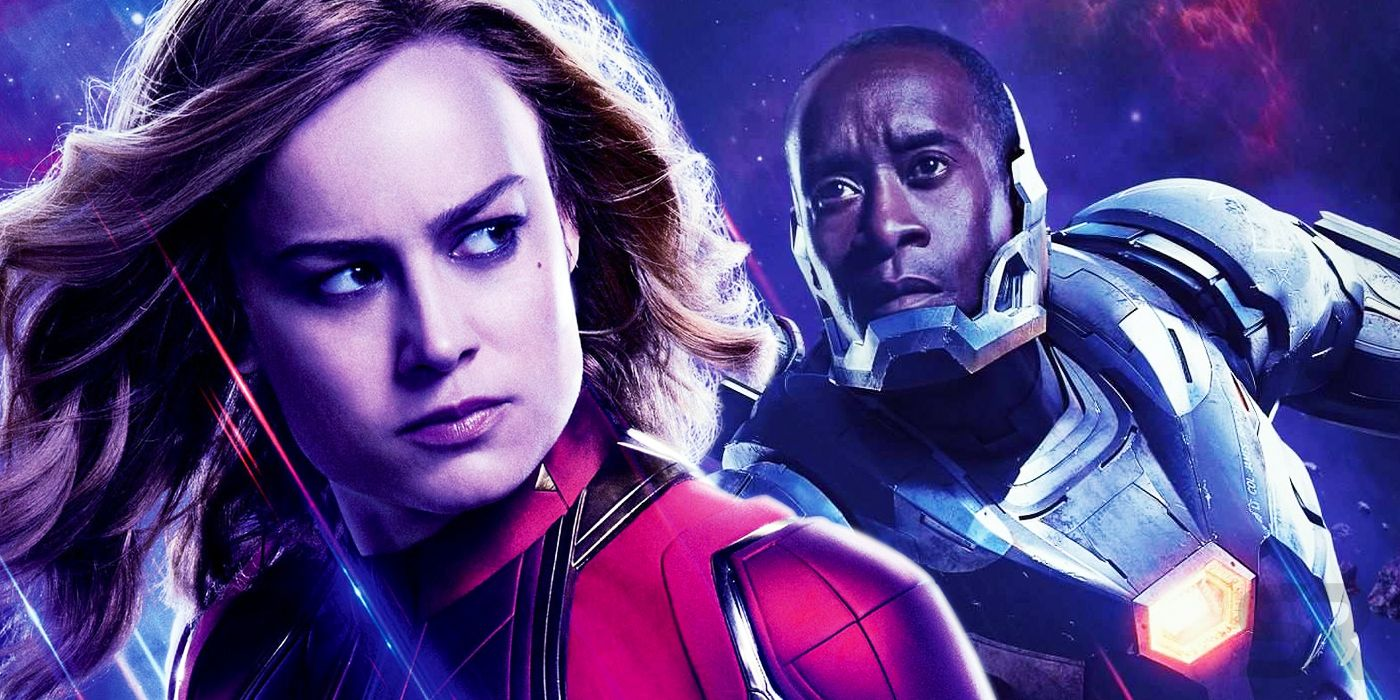 Avengers: Endgame Teases Captain Marvel & War Machine's Romance