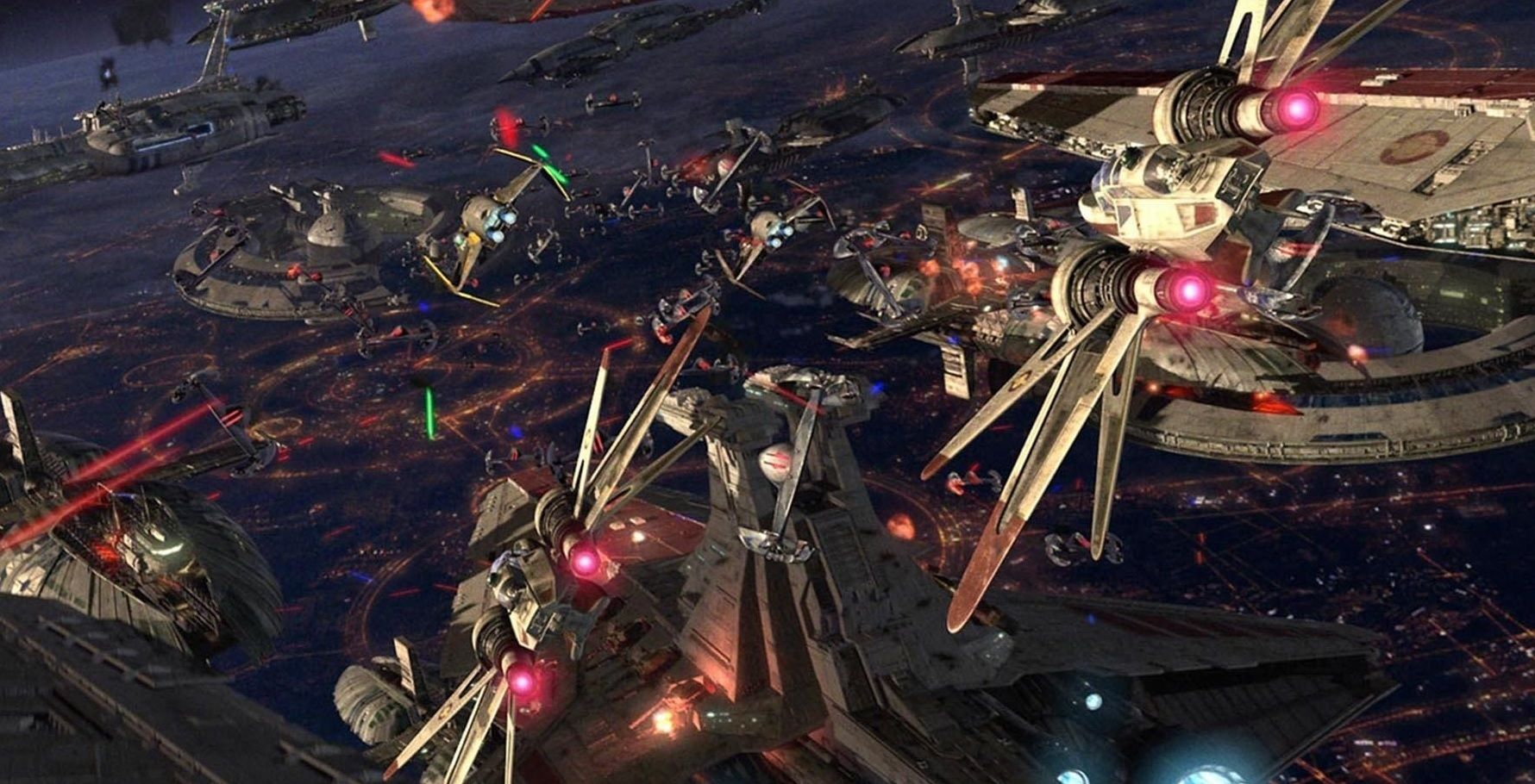 The Battle of Coruscant in Star Wars Episode III Revenge of the Sith