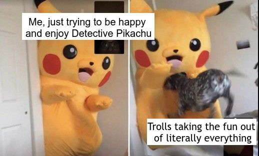 detective pikachu meme reaching