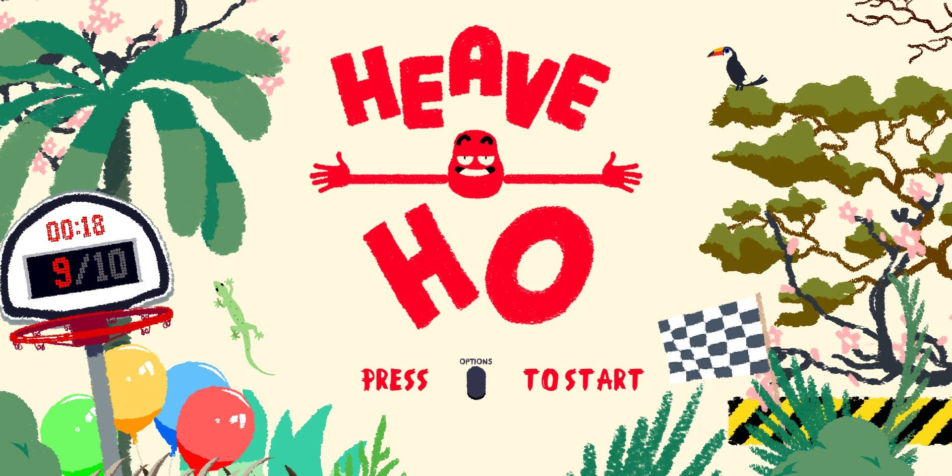 """""""Heave Ho"""": Up to four players, one simple goal – don't fall to your death!"""
