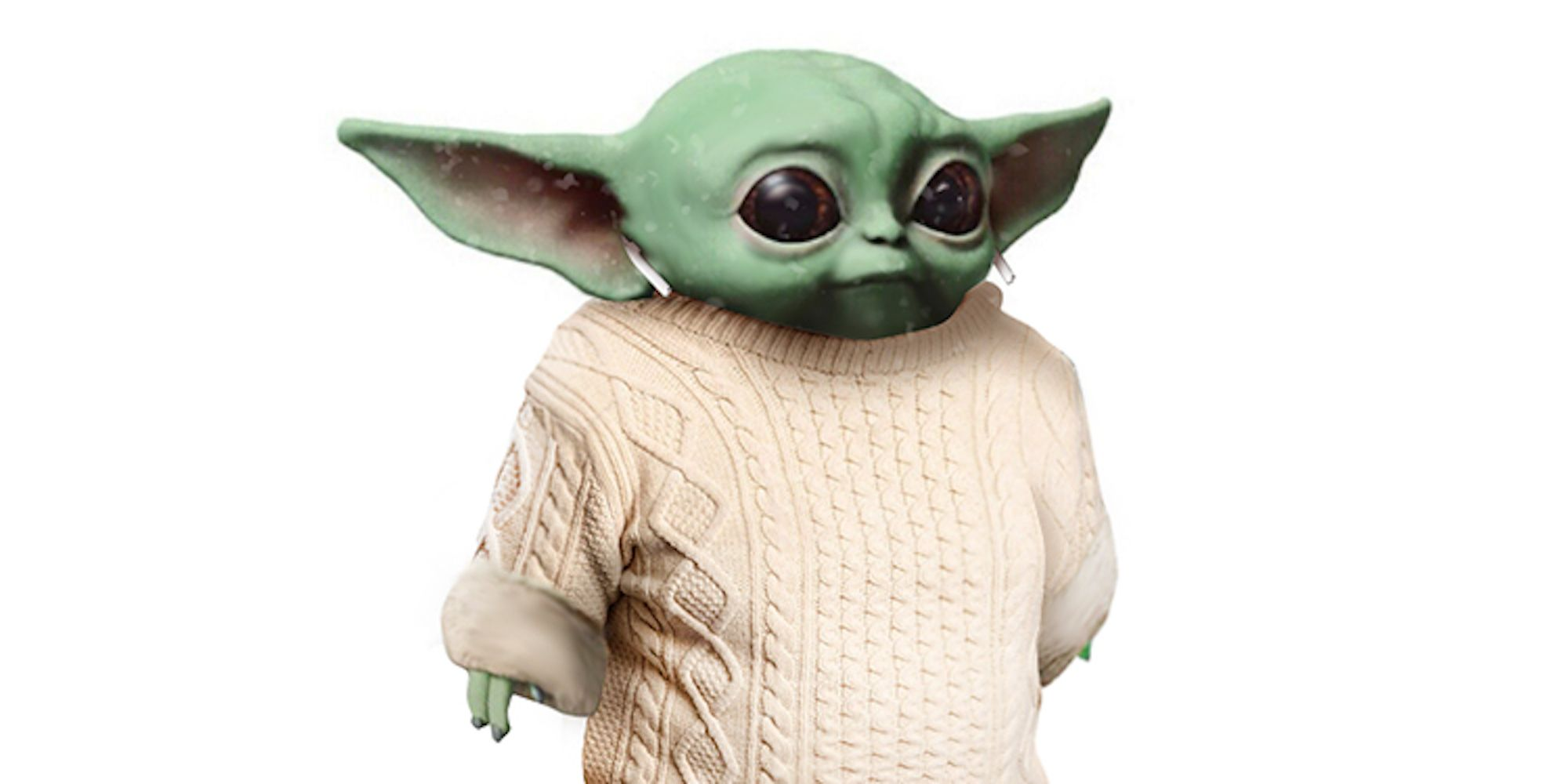 Baby Yoda Dons Chris Evans Knives Out Sweater In Adorable Meme