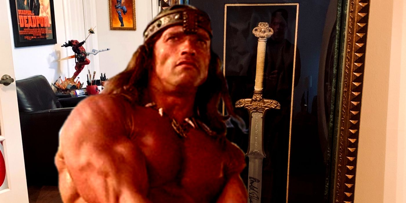 Deadpool Creator Shows Off Conan Sword Signed By Arnold Schwarzenegger