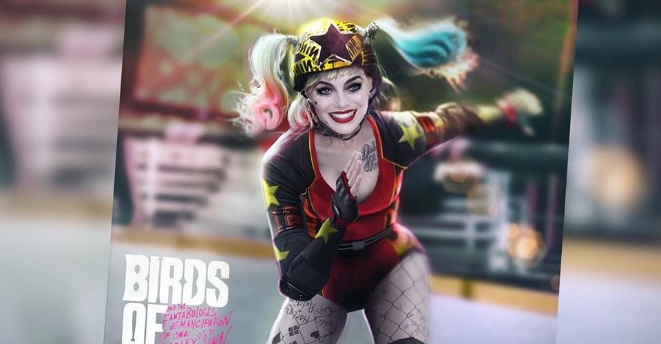 Early Harley Quinn Roller Derby Costume In Birds Of Prey Concept Art