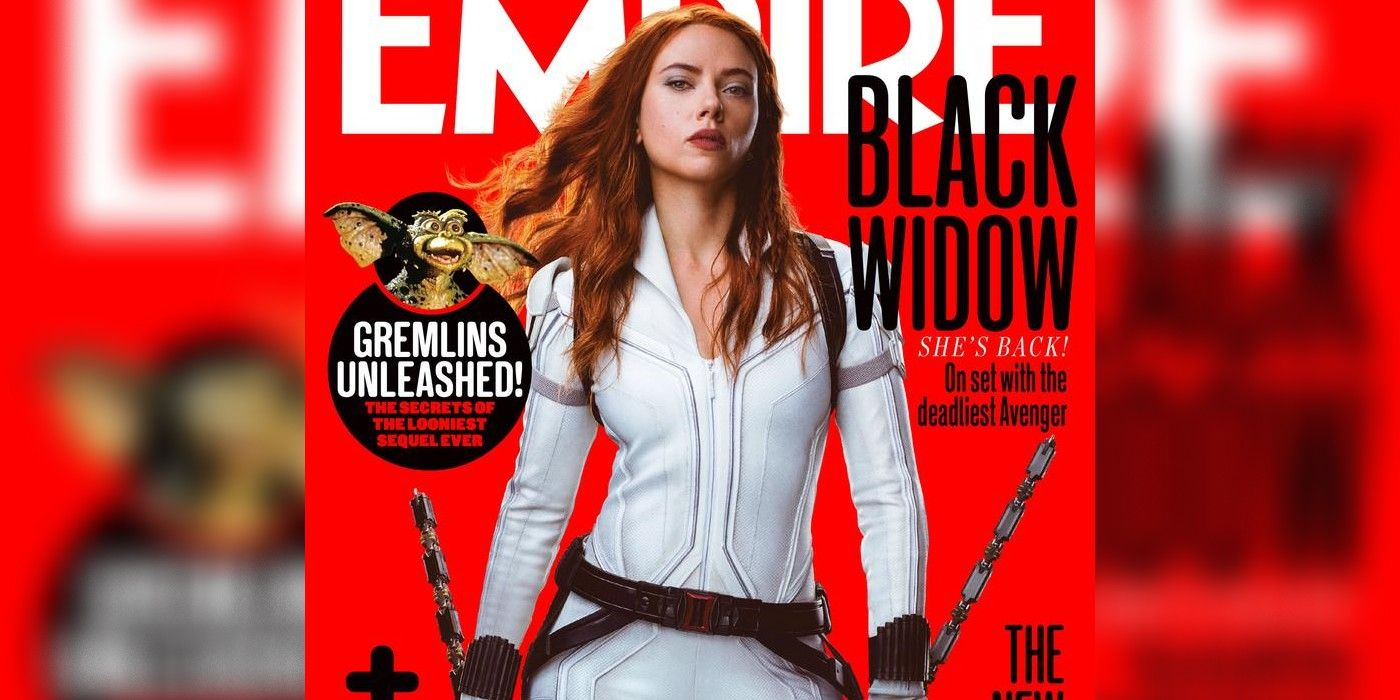 Black Widow S New White Costume Looks Awesome In Magazine Cover