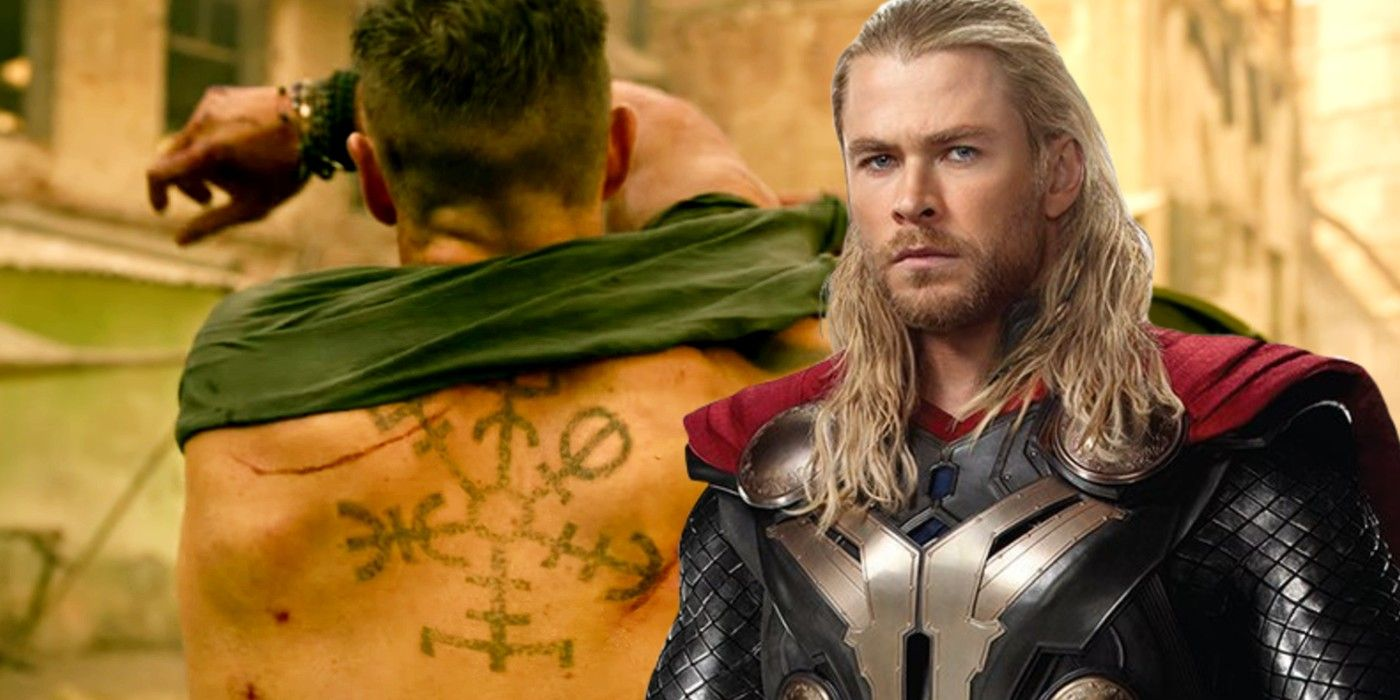 Extraction Chris Hemsworth S Tattoos Have A Major Thor Connection