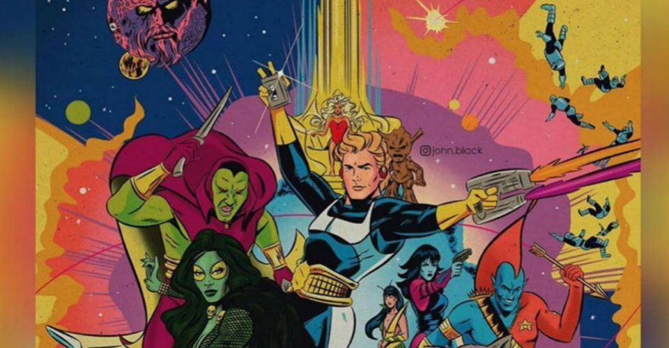 Guardians Of The Galaxy Get A Retro Makeover In Classic Marvel Style