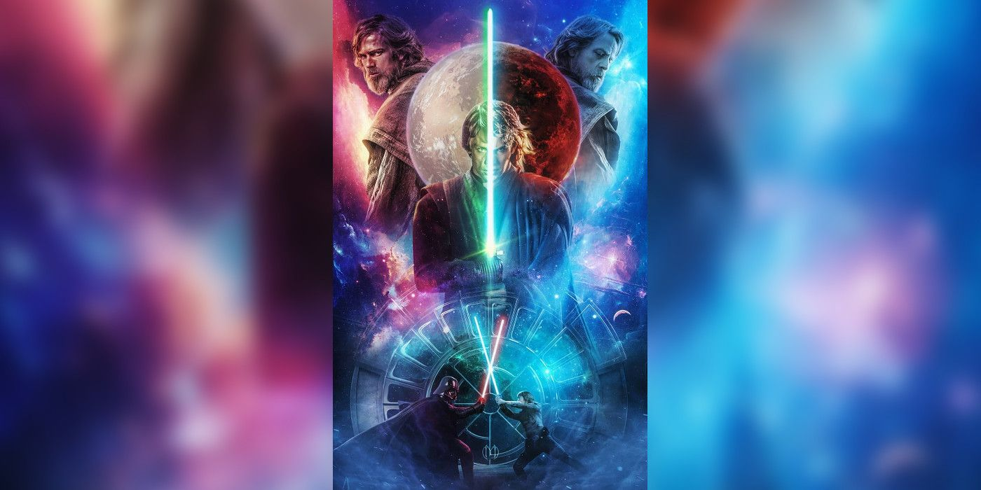Star Wars Old Non Vader Anakin Faces Off With Luke In Fan Poster