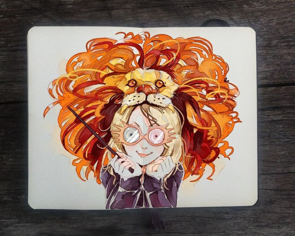 Harry Potter 10 Luna Lovegood Fan Art That Features Her Quirky Behavior Total Daily