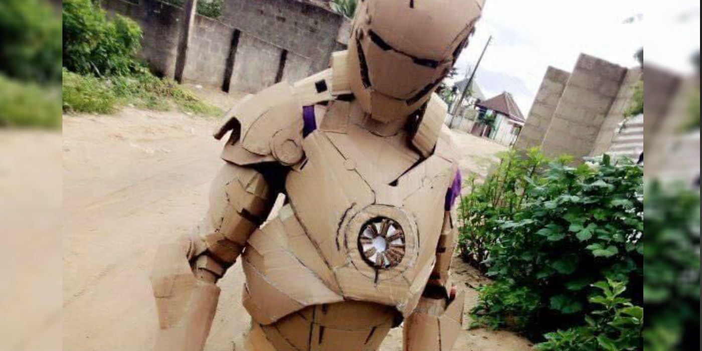 Iron Man Fan Makes Impressively Accurate Suit Out Of Cardboard