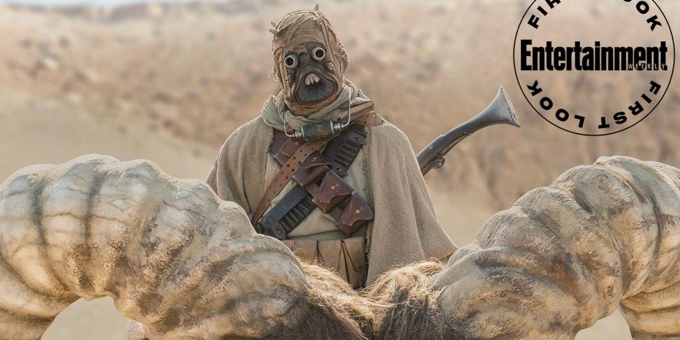 The Mandalorian Season 2 Images Confirm Tusken Raiders Banthas