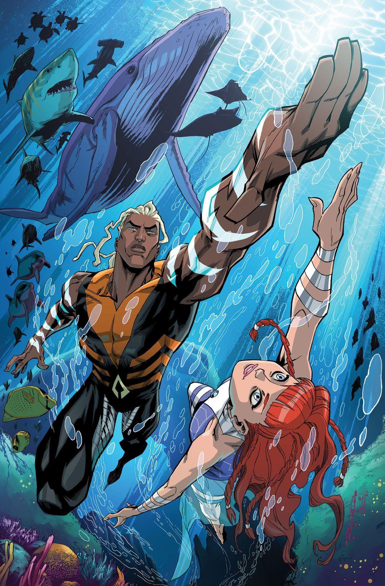 Aqualad do Young Justice se torna o novo Aquaman no futuro de DC 2