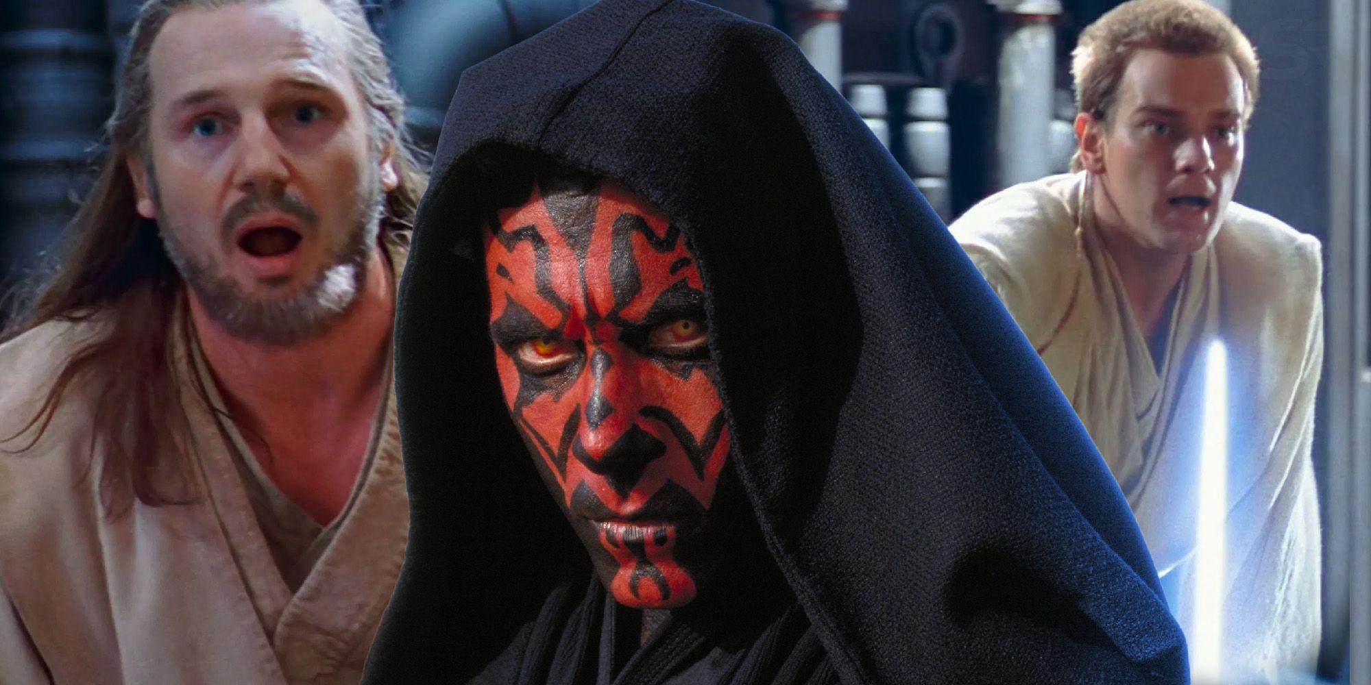 Star Wars: Here's Why Qui-Gon & Obi-Wan Struggled To Fight Darth Maul
