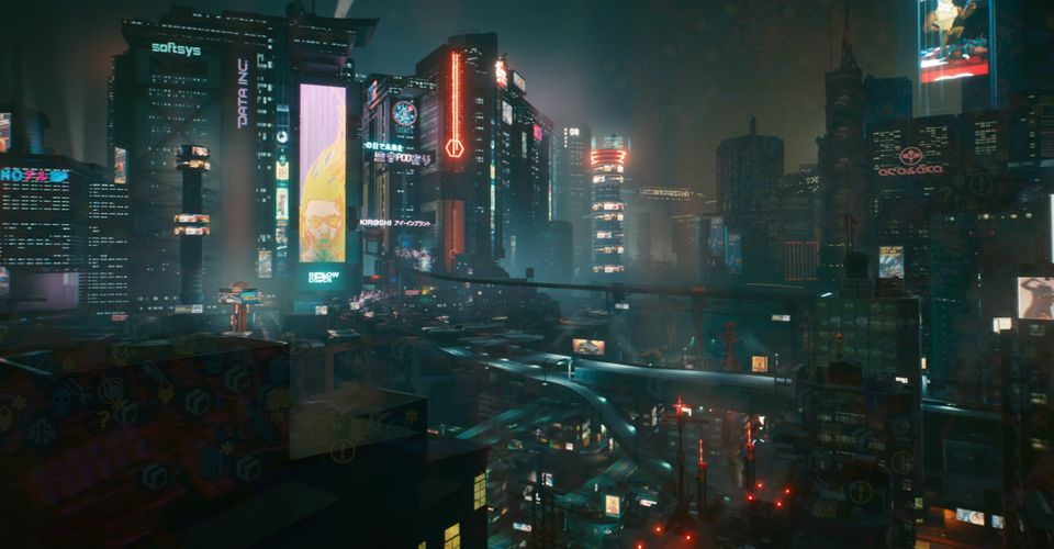 Cyberpunk 2077 In-Game Map Leak Shows Night City's Incredible Density