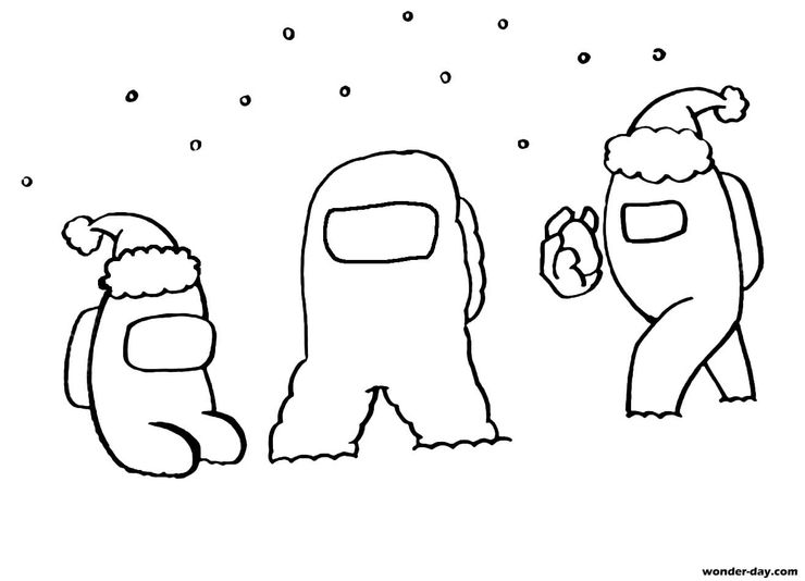 Best Among Us Christmas Coloring Pages Screen Rant