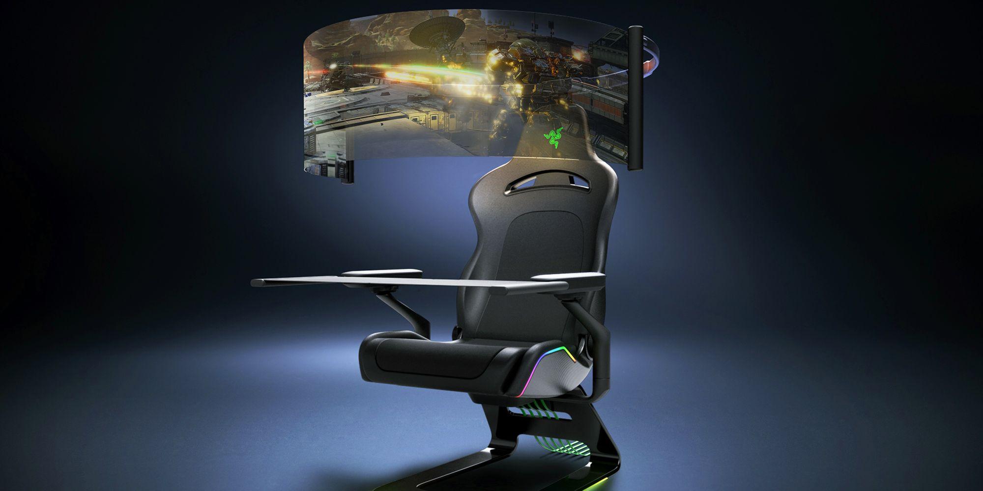 Razer's Futuristic Gaming Chair Concept Has a Flexible Screen Built In