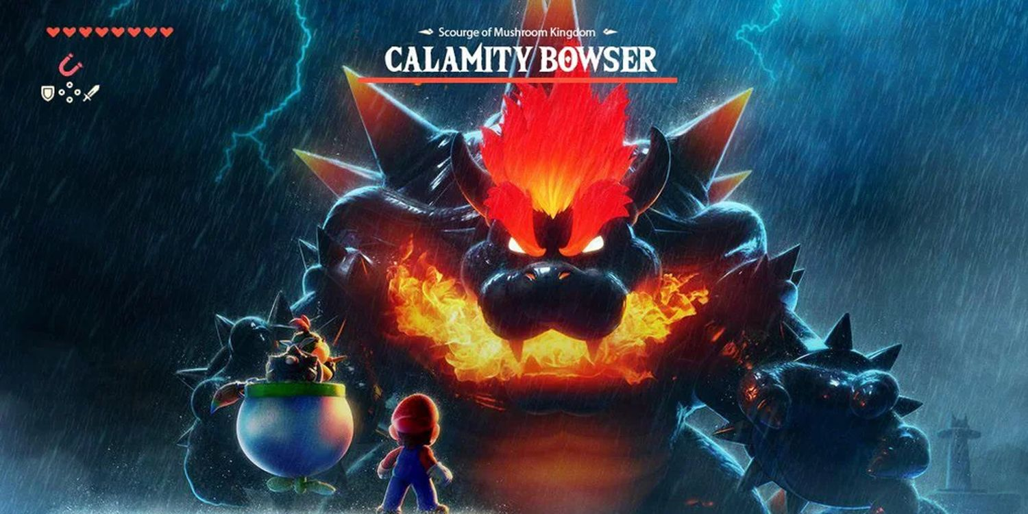 Super Mario 3D World's Fury Bowser Is Calamity Ganon In Crossover Art