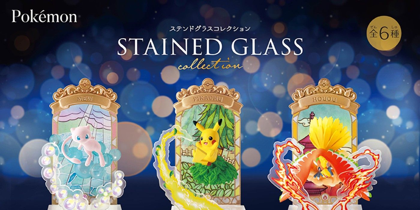 Stained Glass Pokémon Figures Launched To Celebrate 25th Anniversary