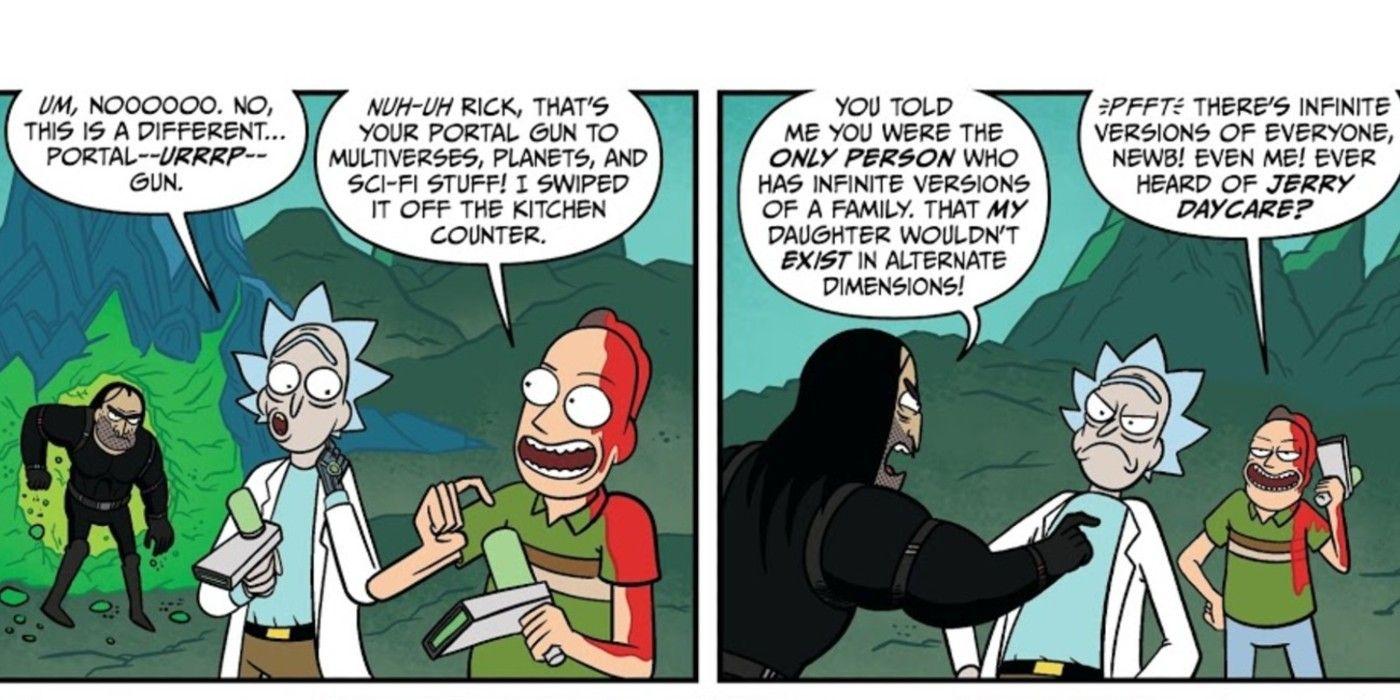 Jerry de Rick e Morty revelou a verdade negra por trás da sua arma de portal 1