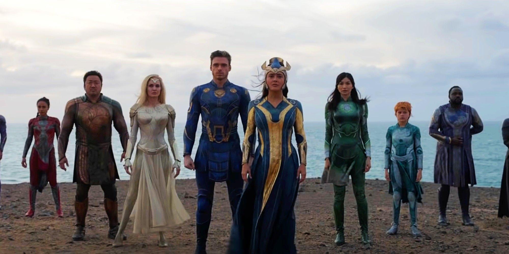 Eternals Movie Trailer Reveals Marvel's Ancient Superhero Team In Full Costume
