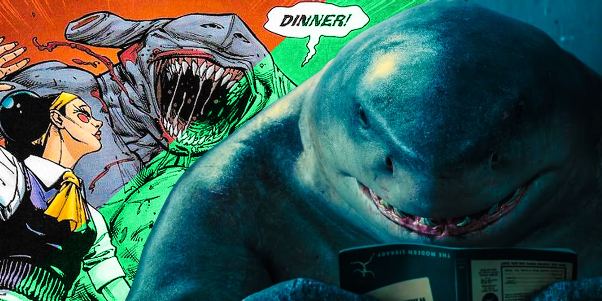 How The Suicide Squad Trailer References King Shark's Worst Deed