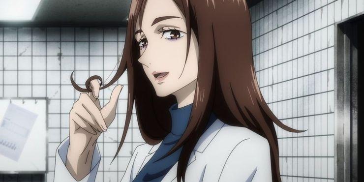 Shoko Ieiri Twisting Her Hair