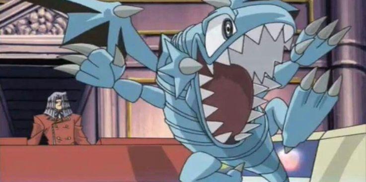 Yugioh Pegasus uses Blue-Eyes-Toon-Dragon in his duel against Kaiba