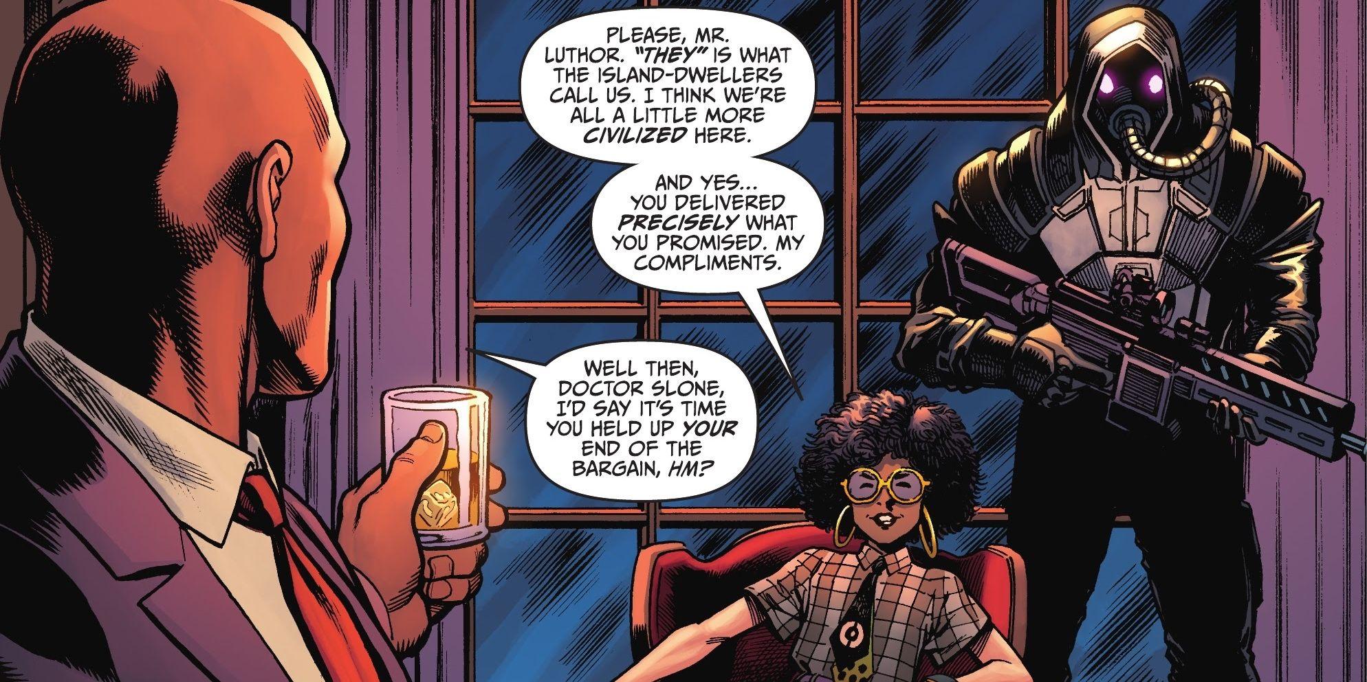 Batman revela a origem secreta do novo vilão Fortnite ,a Doutora Slones 1