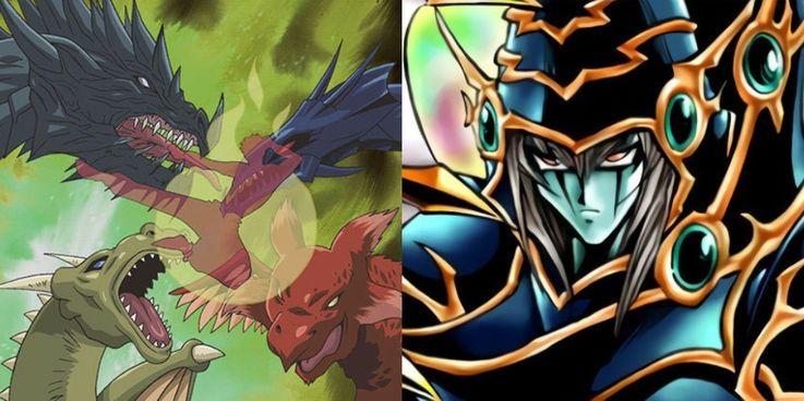 Yugioh Dark Paladin and Flying Dragon Whirl's Yu-Gi-Oh! card art
