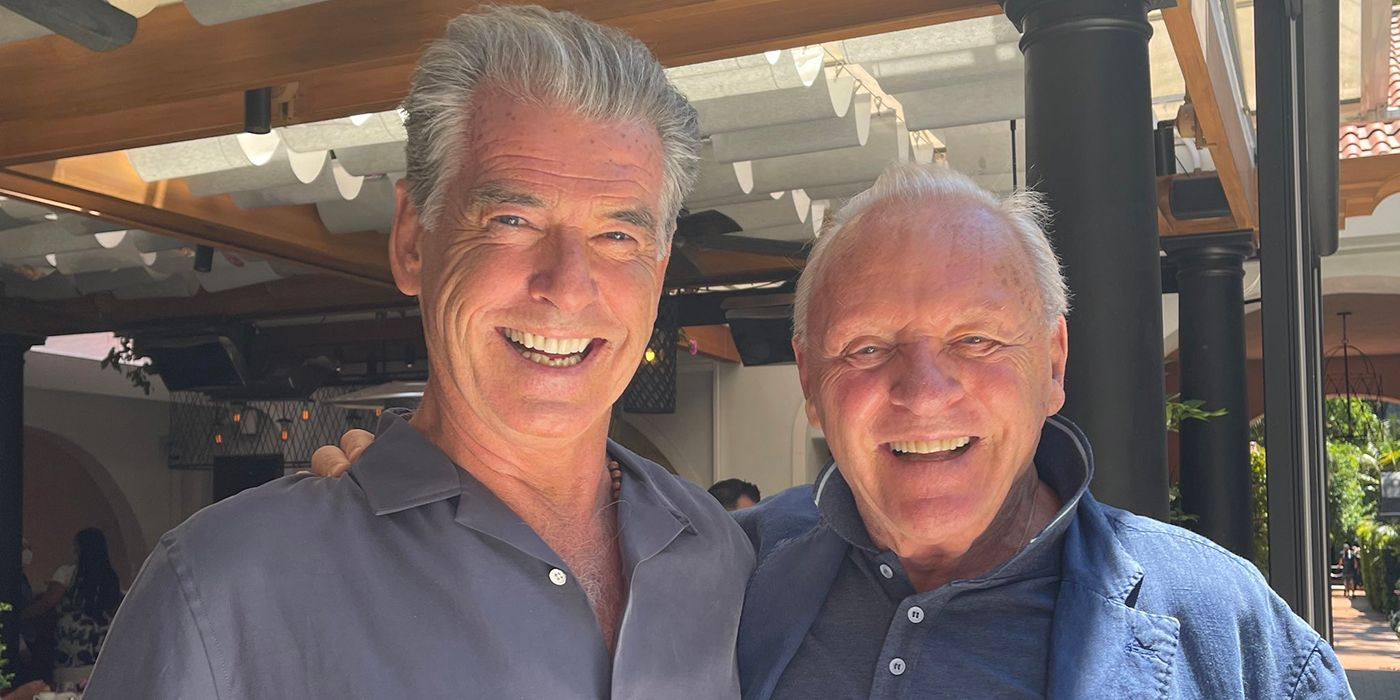 Anthony Hopkins Jokes About Being Next Bond With Pierce Brosnan Photo