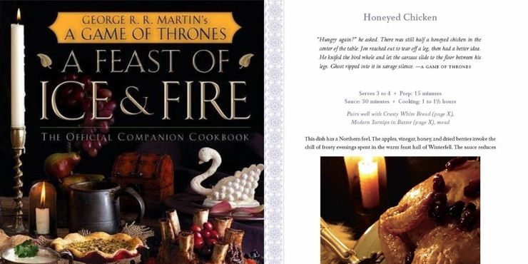 Not just large-scale battles but Games of Thrones also offers books like A Feast of Ice and Fire, providing some fine dines that go on every occasion.