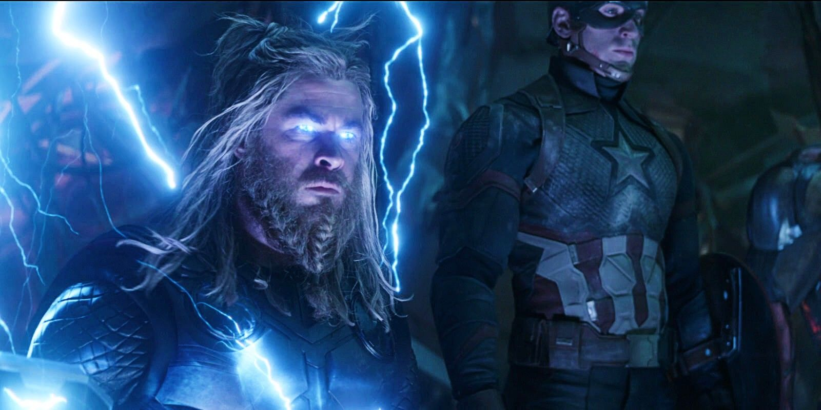 Fat Thor Cosplayer Poses With Perfectly Timed Lightning Strike at Disneyland