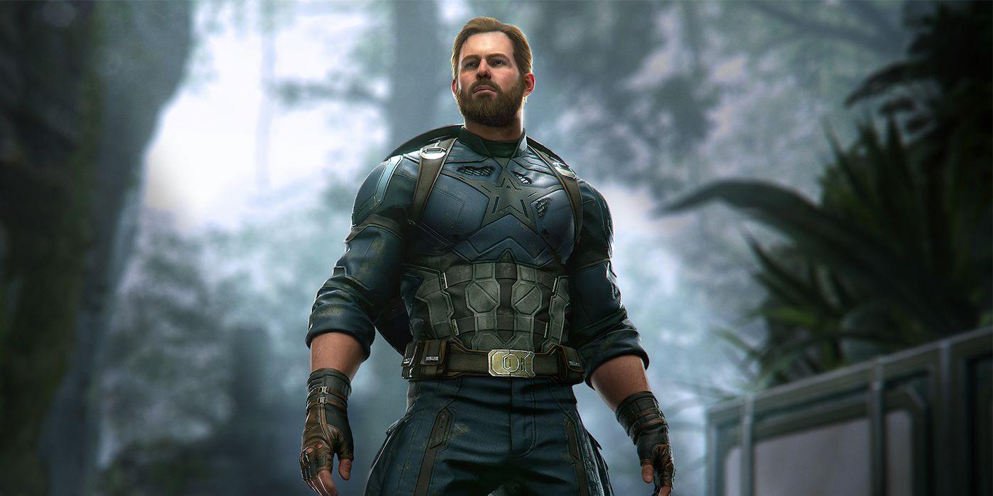 Marvel's Avengers Reveals Captain America's Bearded Infinity War Suit