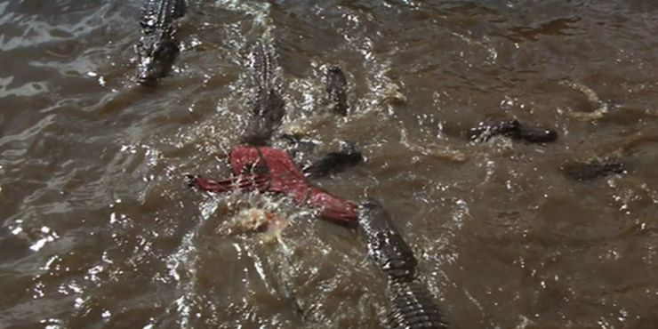 The most memorable Indiana Jones villain's death includes Mola Ram being fed to many crocodiles.